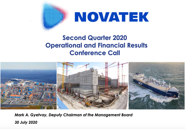Second Quarter 2020 Operational and Financial Results Conference Call